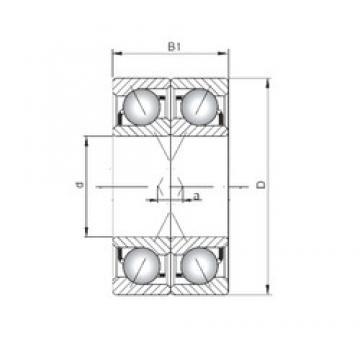 ISO 7238 CDF angular contact ball bearings