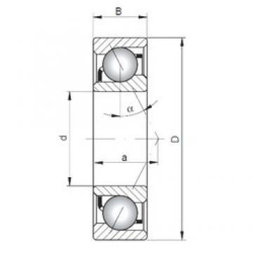 ISO 7307 A angular contact ball bearings