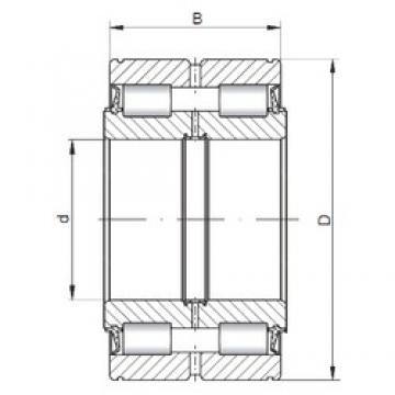 ISO NNF5019 V cylindrical roller bearings