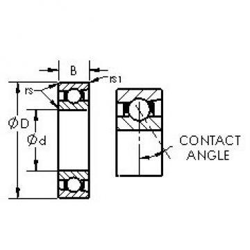 AST 7217C angular contact ball bearings