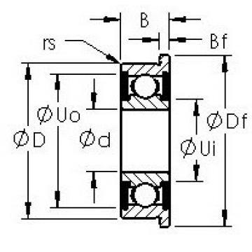AST F626H-2RS deep groove ball bearings