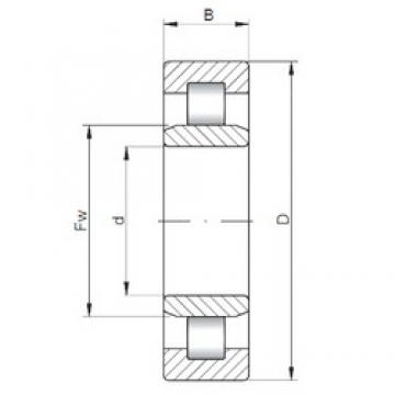 ISO NU312 cylindrical roller bearings