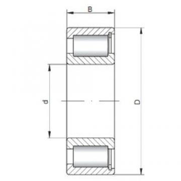 ISO NCF2917 V cylindrical roller bearings