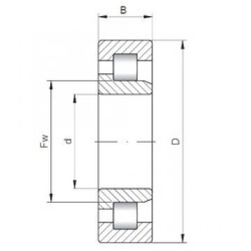 ISO NJ3348 cylindrical roller bearings