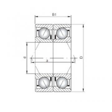 ISO 7038 BDB angular contact ball bearings