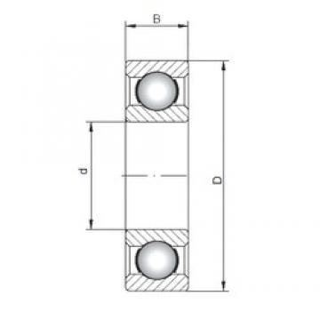 ISO 6018 deep groove ball bearings