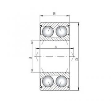 ISO 3008 ZZ angular contact ball bearings