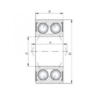 ISO 3320-2RS angular contact ball bearings