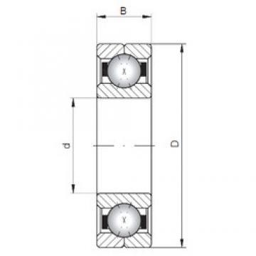 ISO Q226 angular contact ball bearings
