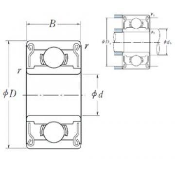 ISO R4B-2RS deep groove ball bearings