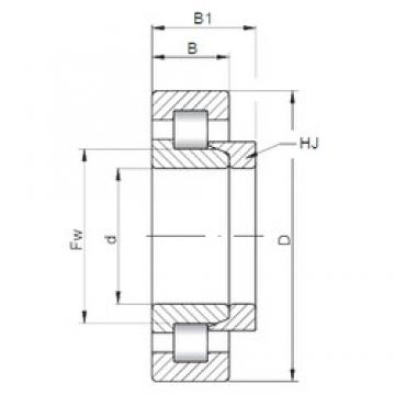 ISO NH2344 cylindrical roller bearings