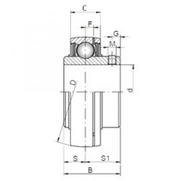ISO UC212 deep groove ball bearings