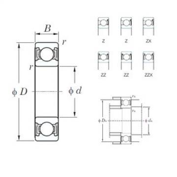KOYO 6208ZZ deep groove ball bearings