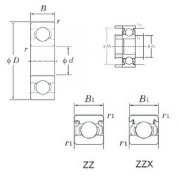KOYO W686ZZ deep groove ball bearings