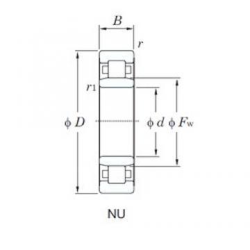 KOYO NU2309 cylindrical roller bearings