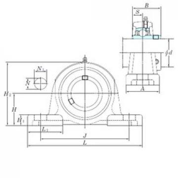 KOYO UCPX17-55 bearing units