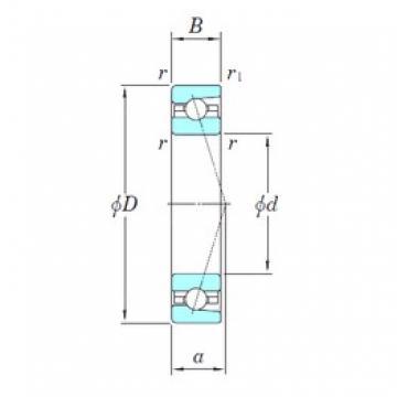 KOYO 3NCHAC908CA angular contact ball bearings