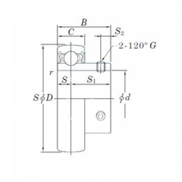 KOYO UC218-56 deep groove ball bearings
