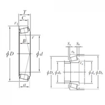 KOYO EE275100/275155 tapered roller bearings