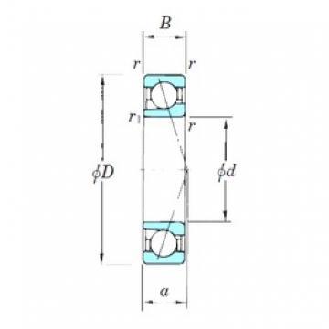 KOYO 7217CPA angular contact ball bearings