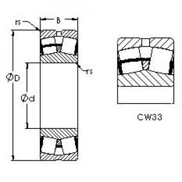 AST 23072CAW33 spherical roller bearings