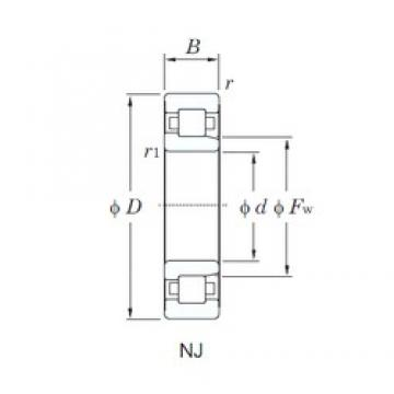 KOYO NJ322R cylindrical roller bearings