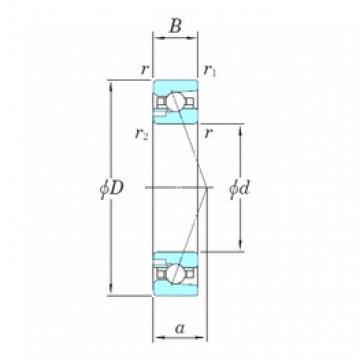 KOYO 3NCHAD016CA angular contact ball bearings