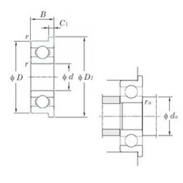 KOYO F681 deep groove ball bearings