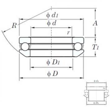 KOYO 53413 thrust ball bearings