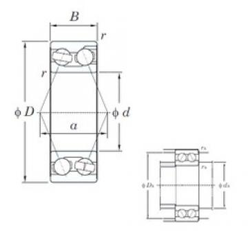 KOYO 3321 angular contact ball bearings