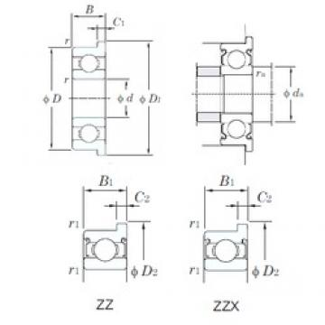 KOYO F626ZZ deep groove ball bearings