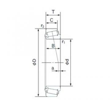NACHI H-26878R/H-26822 tapered roller bearings