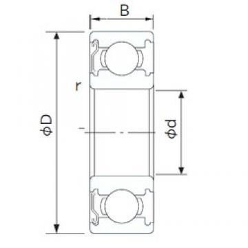 NACHI 6007ZE deep groove ball bearings