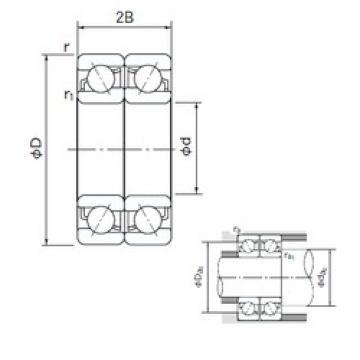 NACHI 7332DF angular contact ball bearings