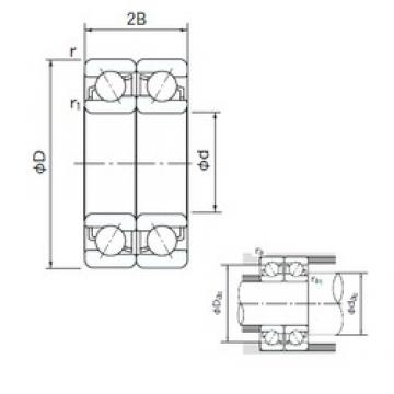 NACHI 7338BDF angular contact ball bearings