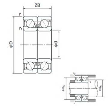 NACHI 7212DB angular contact ball bearings