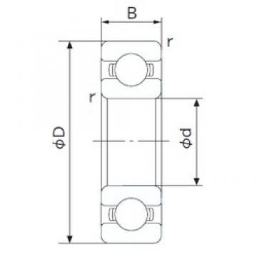 NACHI 16016 deep groove ball bearings
