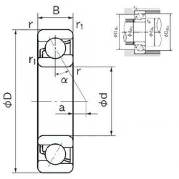 NACHI 7340 angular contact ball bearings
