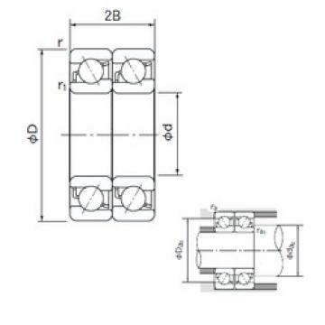 NACHI 7005CDT angular contact ball bearings