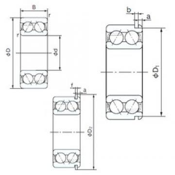 NACHI 5218ANR angular contact ball bearings