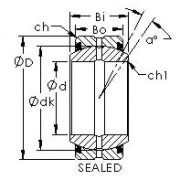 AST GEGZ139ES-2RS plain bearings