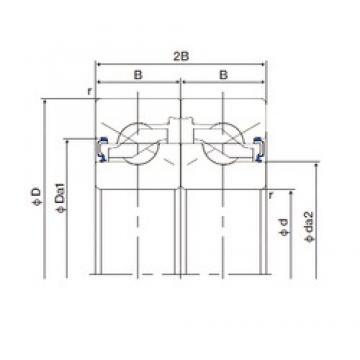 NACHI 15TAB04DF-2LR thrust ball bearings