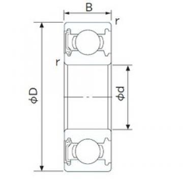 NACHI 6204NSE deep groove ball bearings