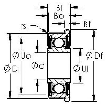 AST SFRW1-5ZZ deep groove ball bearings