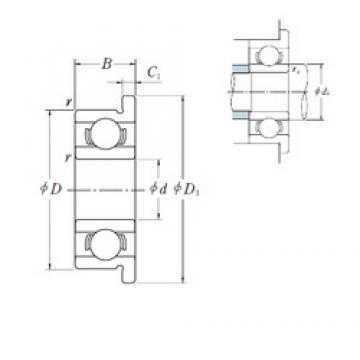 ISO MF128 deep groove ball bearings
