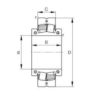 FAG 222SM260-MA spherical roller bearings
