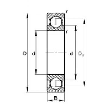 FAG 16008 deep groove ball bearings
