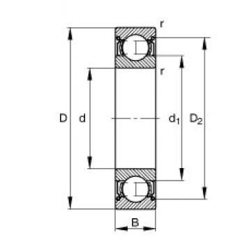 FAG 6226-2Z deep groove ball bearings