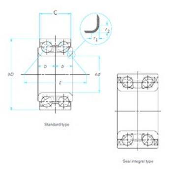 ISO DAC42750037 angular contact ball bearings