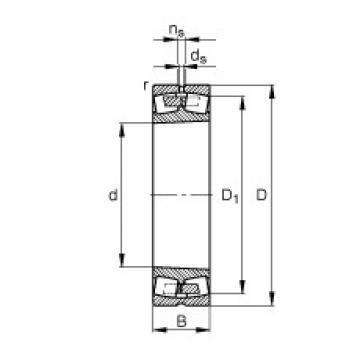 FAG 23032-E1A-K-M spherical roller bearings